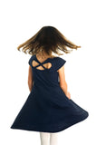 Tween Navy Textured Knit Dress