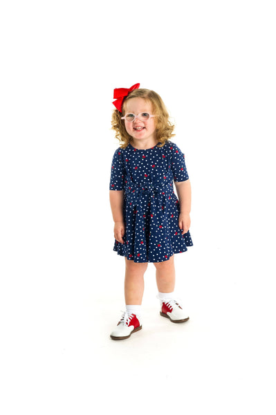 Ladybug Print Circle Skirt Dress