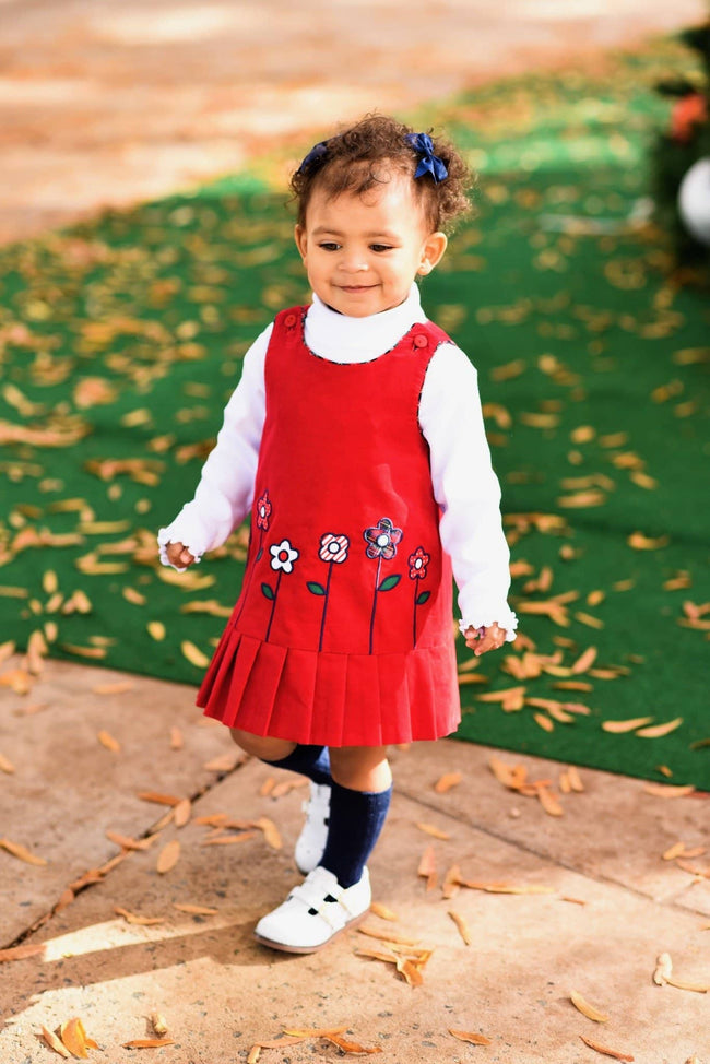 Reversible Corduroy Jumper with Cupcakes & Flowers