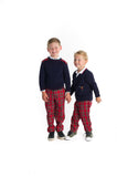 Boys Cardigan Sweater with Bugle Bear
