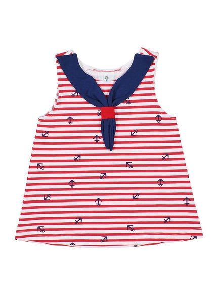 Anchor Print Sailor Tunic - Florence Eiseman