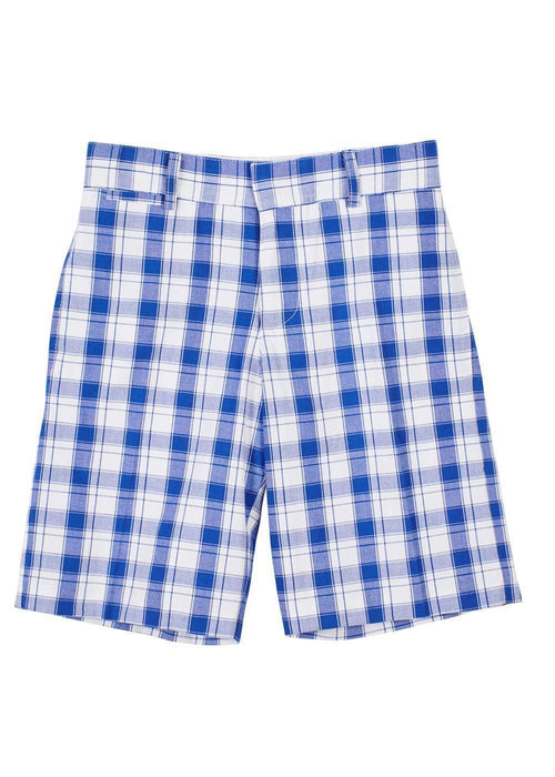Royal Plaid Fly Front Short - Florence Eiseman