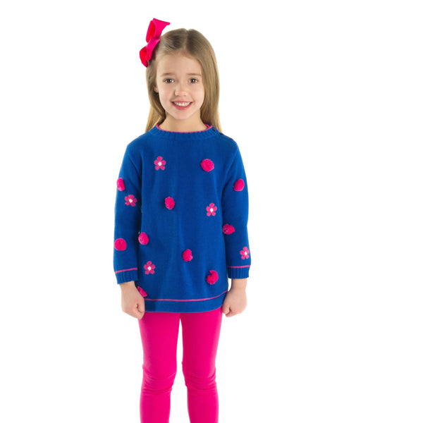 Pom Pom Tunic Sweater with Leggings - Florence Eiseman