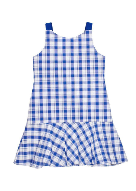 Junior Cord Dress With Flower Trellis