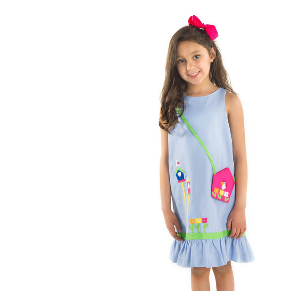 Dress with Birdhouse and Matching Purse
