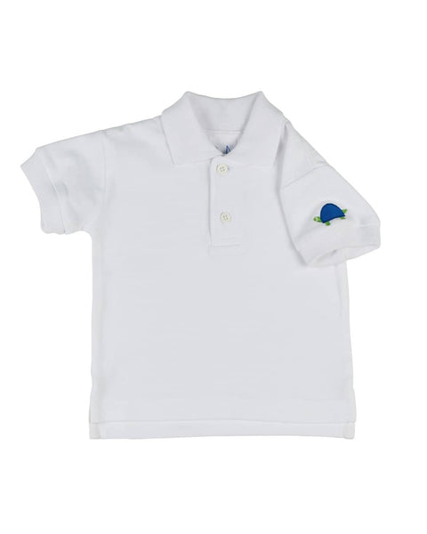 Boys Polo Shirt w/Appliqued Turtle - Florence Eiseman