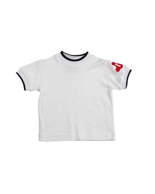 Boys T Shirt with Airplane Applique - Florence Eiseman