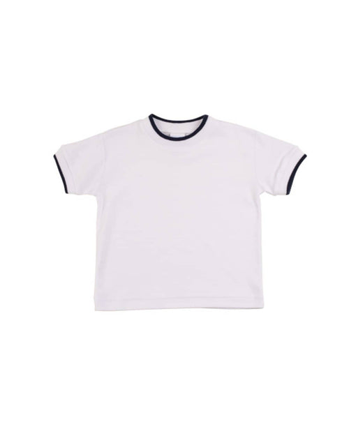 Boys T-Shirt with Navy Tipping - Florence Eiseman