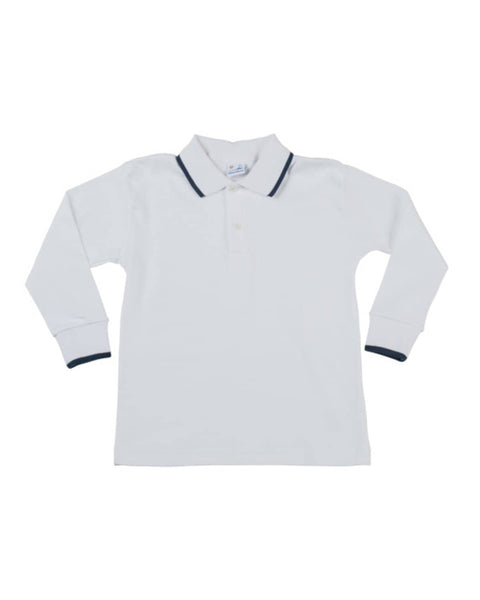 Boys Navy Tipped Polo - Florence Eiseman