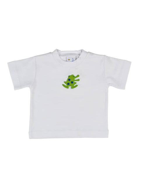 Boys T-Shirt with Frog Applique - Florence Eiseman