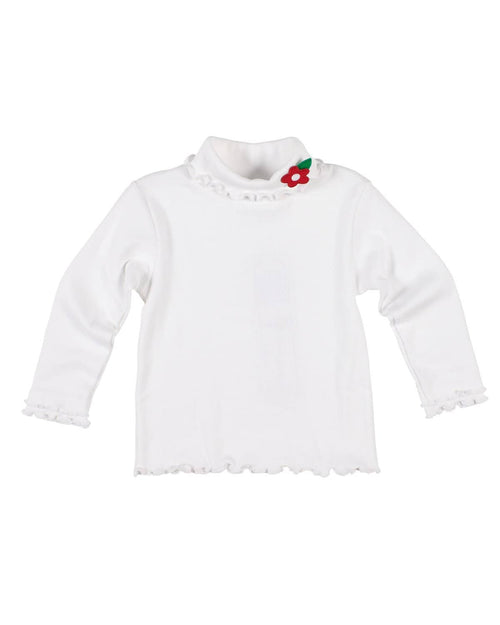 Girls Rib Turtleneck with Flower - Florence Eiseman