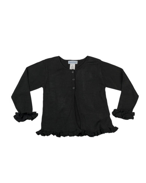 Cardigan Sweater with Ruffles - Florence Eiseman