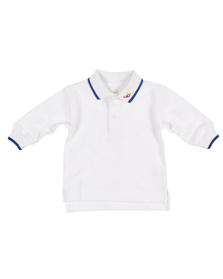 Polo Shirt with Sailboat on Sleeve