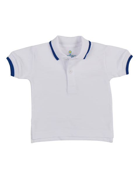 Royal Tipped Boys Polo Shirt - Florence Eiseman