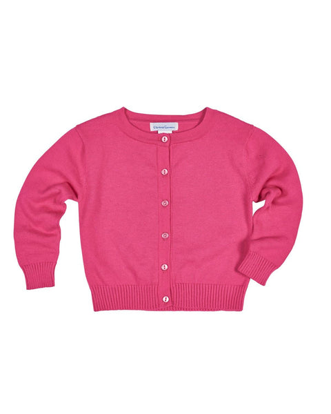 Girls Fuchsia Cardigan Sweater - Florence Eiseman