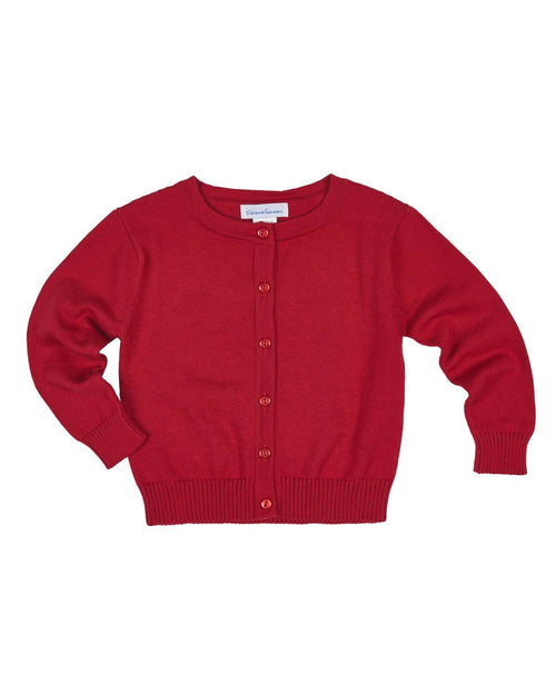 Girls Red Cardigan Sweater - Florence Eiseman
