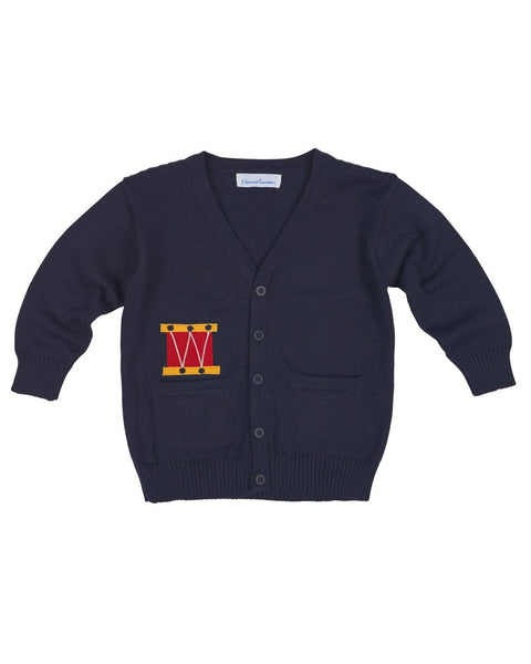 Boys Cardigan Sweater with Drum Applique - Florence Eiseman