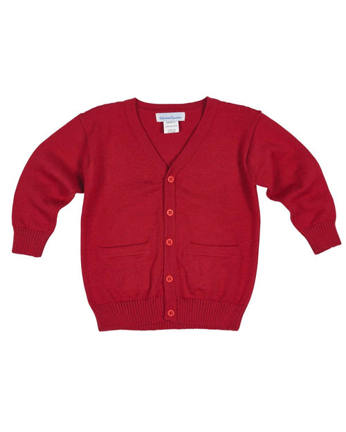 Boys Red Cardigan Sweater - Florence Eiseman