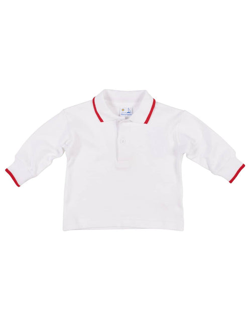 Boys Polo Shirt with Red Tipping - Florence Eiseman