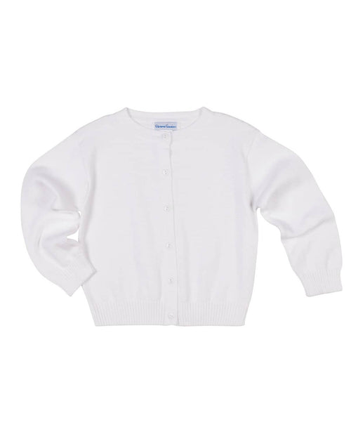 Girls White Cardigan Sweater - Florence Eiseman