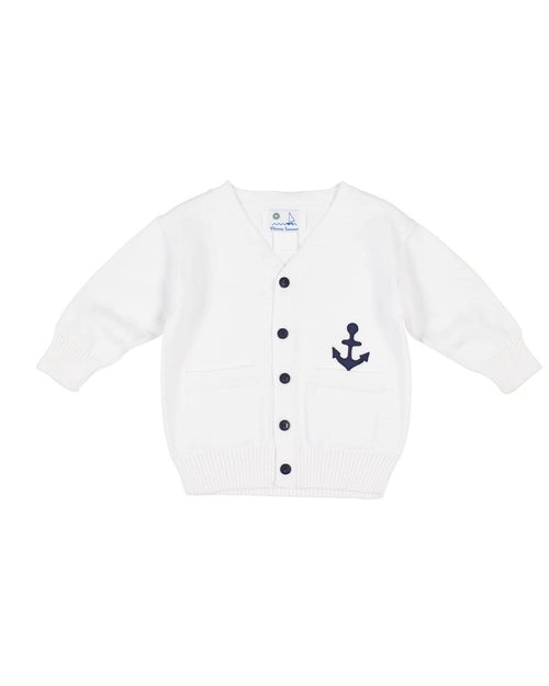 Baby and Toddler Boys Cardigan with Anchor - Florence Eiseman