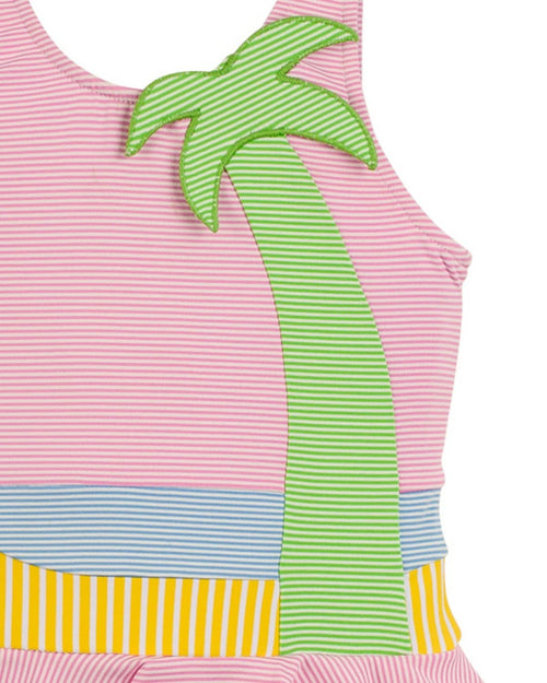 Stripe Palm Tree Swimsuit - Florence Eiseman