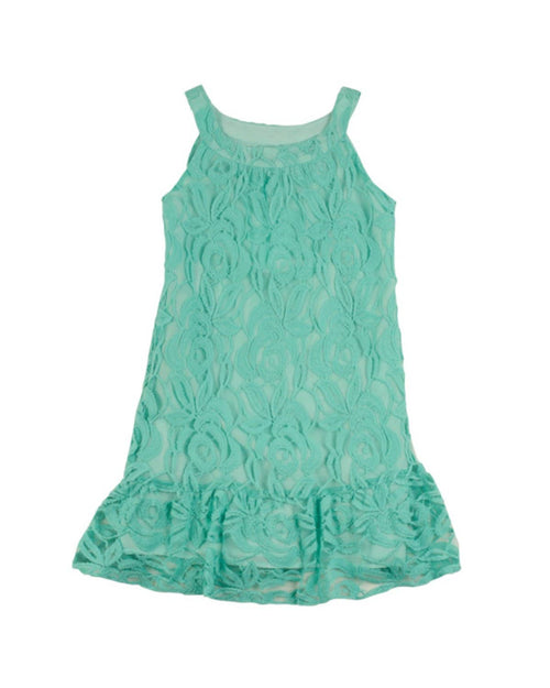 Tween Mint Lace Dress - Florence Eiseman