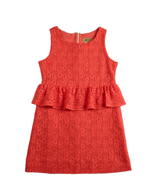 Tween Lace Peplum Dress - Florence Eiseman