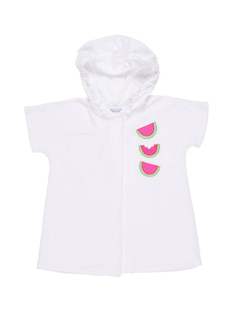 Girls Terry Hooded Cover-up with Watermelons - Florence Eiseman
