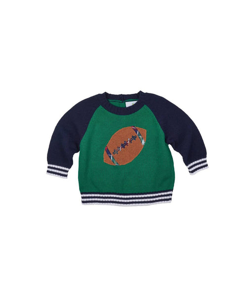 Boys Sweater with Intarsia Football - Florence Eiseman