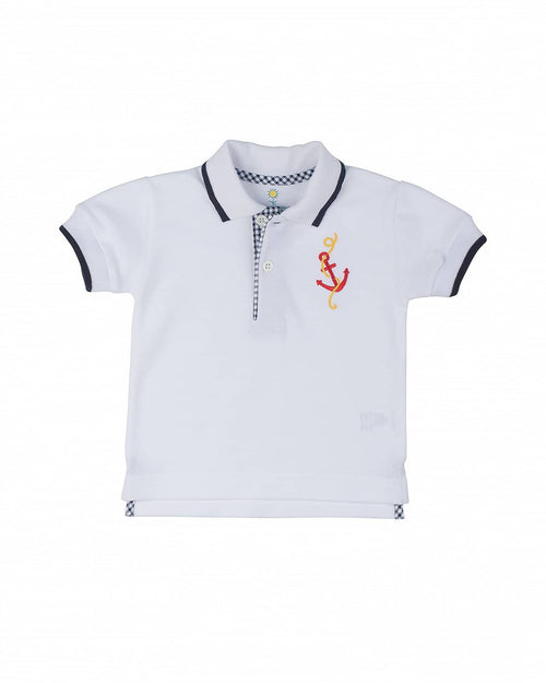 Polo Shirt w/ Embroidered Anchor - Florence Eiseman