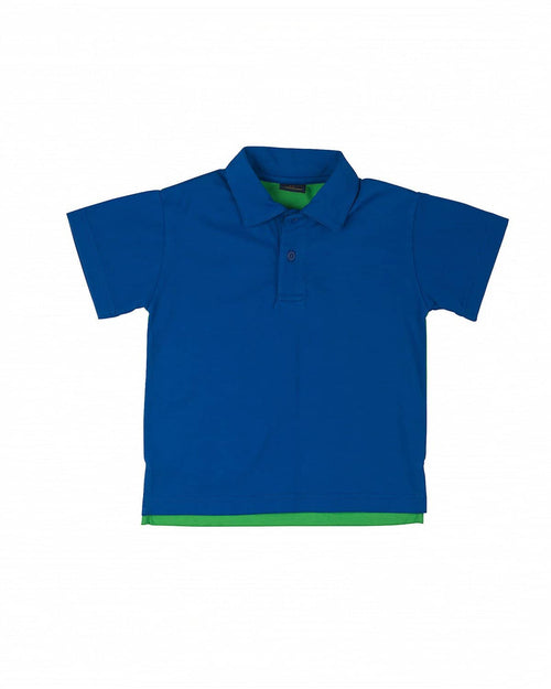 Boys' Classic Royal Blue and Green Polo Shirt - Florence Eiseman