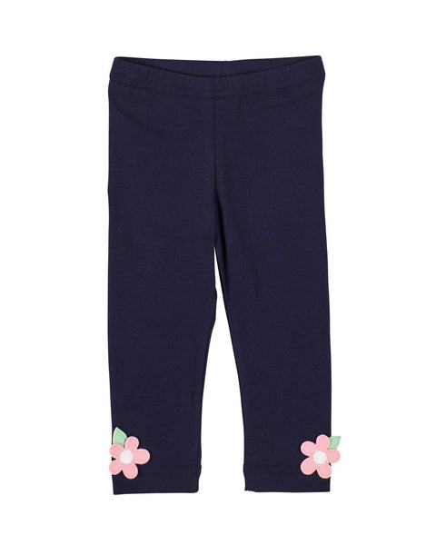 Navy Leggings with Flowers - Florence Eiseman