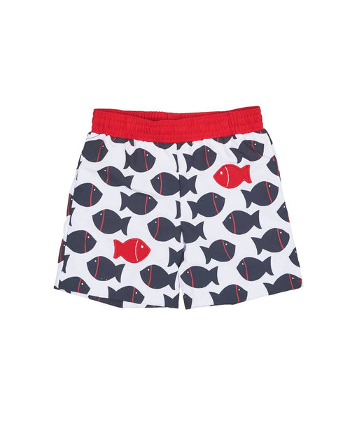 Fish Print Boys Trunks - Florence Eiseman