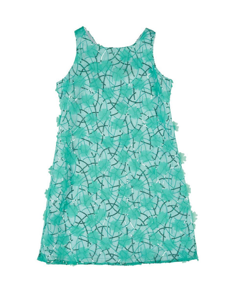 Tween Mint Sequin and Floral Shift - Florence Eiseman