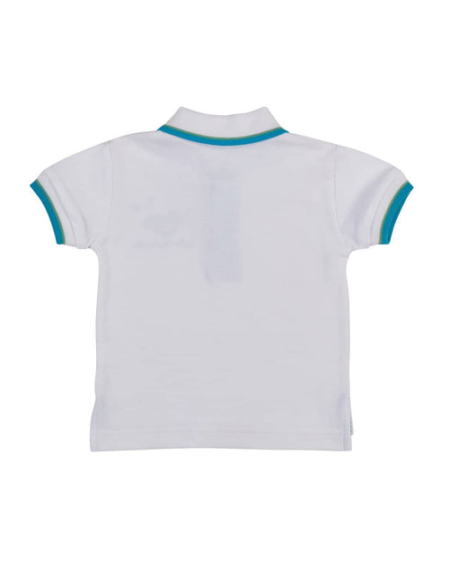 White Pique Polo with Applique Whale - Florence Eiseman