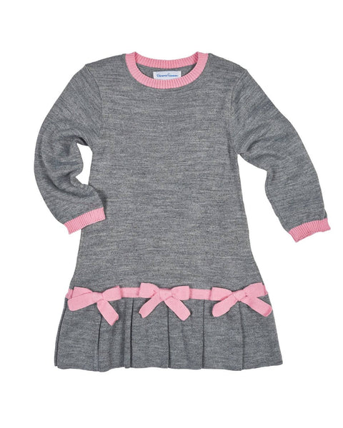 Girls Sweater Dress with Bows - Florence Eiseman