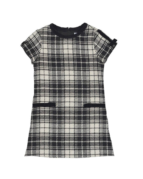 White and Black Plaid Boucle Dress - Florence Eiseman