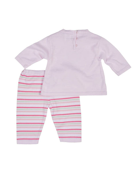 Pink Sweater and Pant Set with Applique Heart - Florence Eiseman