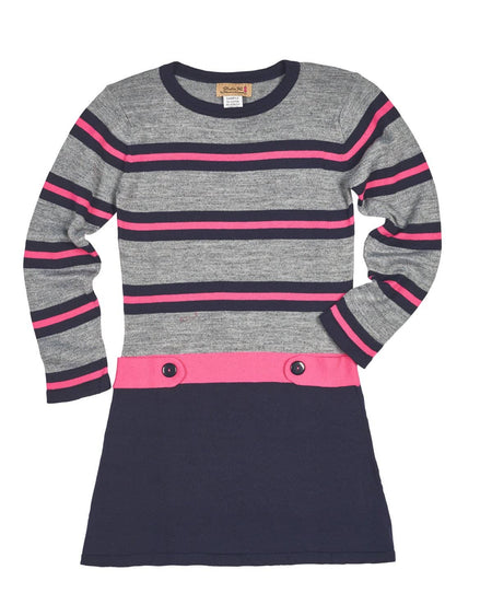 Crepe Knit Dress with Bell Sleeves