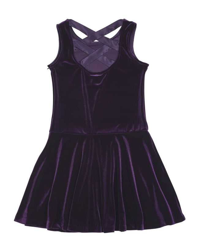 Purple Stretch Velvet Dress - Florence Eiseman