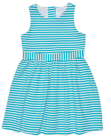 Tween Stripe Tie Front Dress