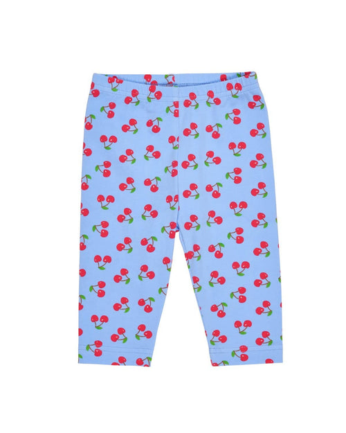 Periwinkle/Red Cherry Print Capris - Florence Eiseman