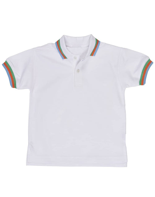 Boys Polo Shirt with Multi-Color Tipping - Florence Eiseman