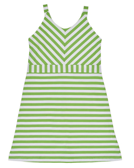 Stripe Knit Dress with Ruffle Sleeves