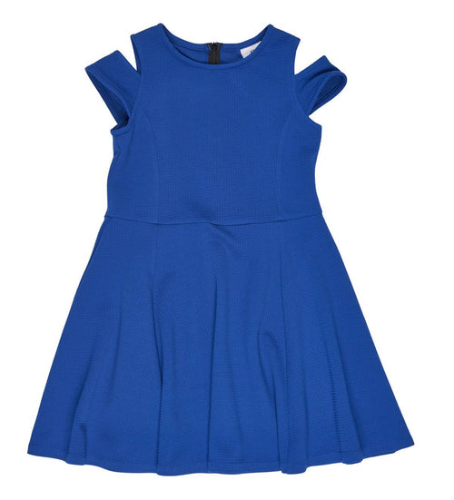 Tween Royal Cold Shoulder Dress - Florence Eiseman