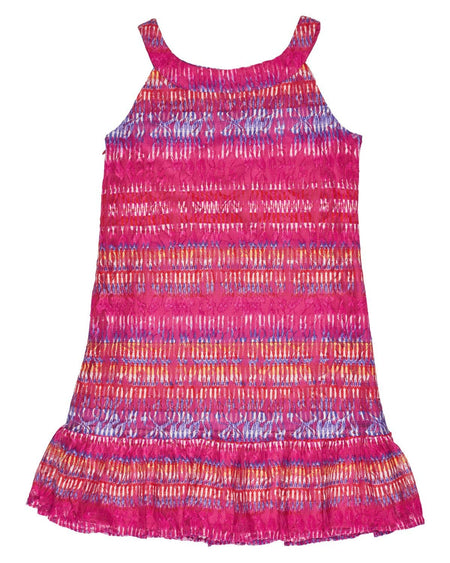 Tween Neon Pink Techno Knit Dress