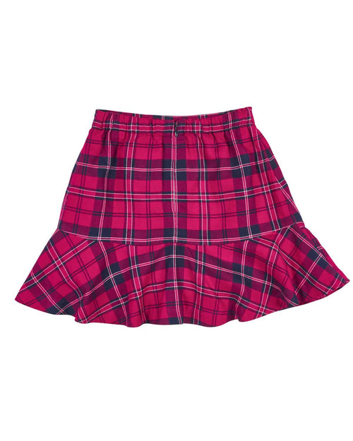 Fuchsia and Navy Plaid Skirt - Florence Eiseman