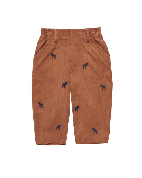 Camel Cord Pant with Embroidered Moose - Florence Eiseman