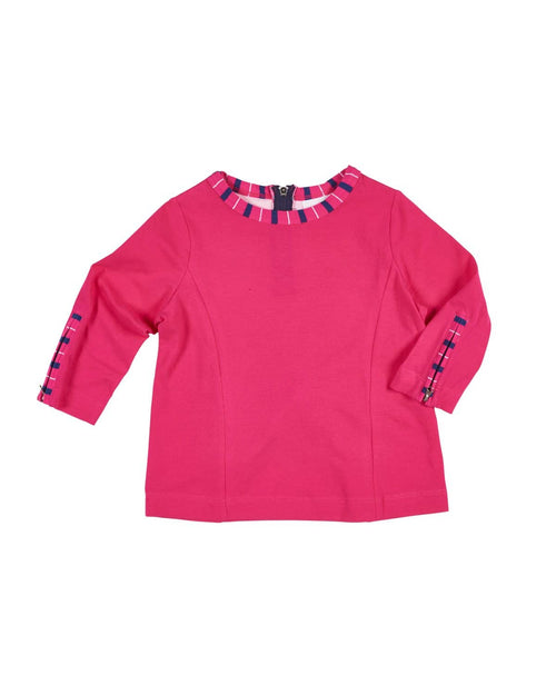 Fuchsia Tunic with Zipper Detail - Florence Eiseman